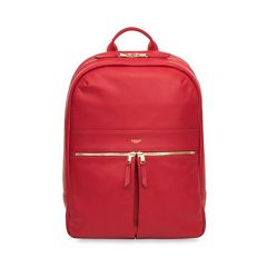 Knomo BEAUX Leather Backpack 14inch - Cherry