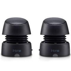 iHome (EOL) iHM79 USB rechargable micro-speakers, black