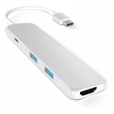 SATECHI Slim Type-c Multi Adap Silver