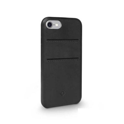 TwelveSouth Relaxed Leather Clip; with pockets; for iPhone 6/6s/7/8 - black
