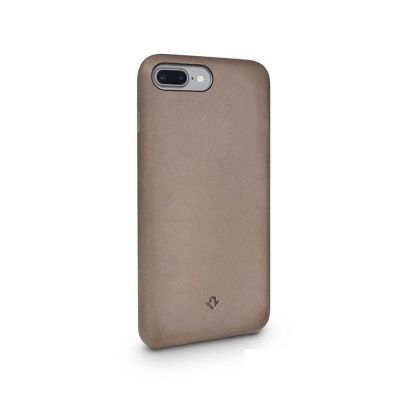 TwelveSouth Relaxed Leather Clip for iPhone 6 Plus/6s Plus/7 Plus/8 Plus - warm taupe.