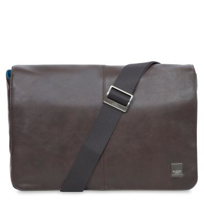 Knomo KINSALE Leather Messenger Bag (Cross Body) 13inch - Brown