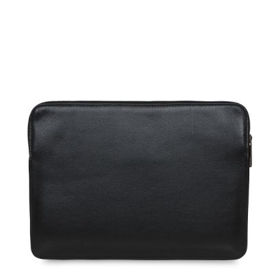 Knomo BARBICAN Leather Sleeve 12inch - Black