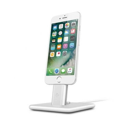 TwelveSouth HiRise 2 Desktop Stand for iPhone; iPad mini - silver.