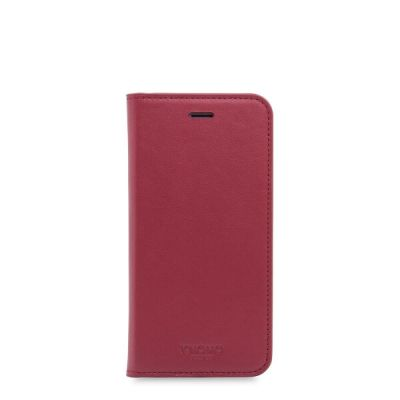 Knomo PREMIUM Leather Folio with moulded shell for iPhone 7/8 - Chili