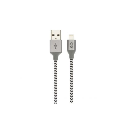 Charging / Data Lighting EPICO braided cable 1,8m - black/white (MFi)