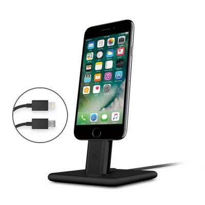 TwelveSouth HiRise Deluxe 2 Desktop Stand for iPhone; Smartphones; incl. Lighting & Micro-USB-cable - black.