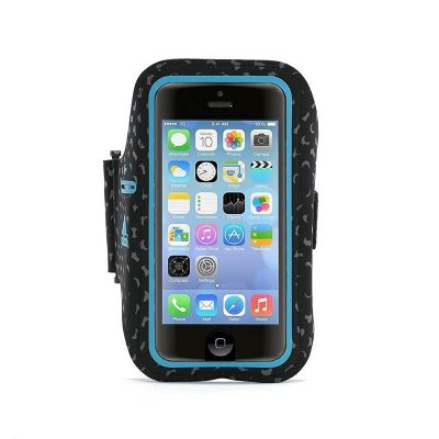 Griffin Armband Adidas Licensed for iPhone 5, 5s, 5c, SE in Black/Solar Blue