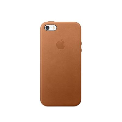 Apple iPhone SE Leather Case - Saddle Brown