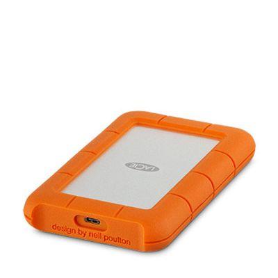 Lacie 2TB Rugged USB-C - Silver/Orange