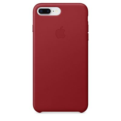Apple iPhone 8 Plus/7 Plus Leather Case - (PRODUCT)RED