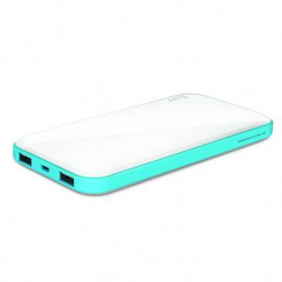 iLuv 10000 mAh Slim Portable Power Bank - White